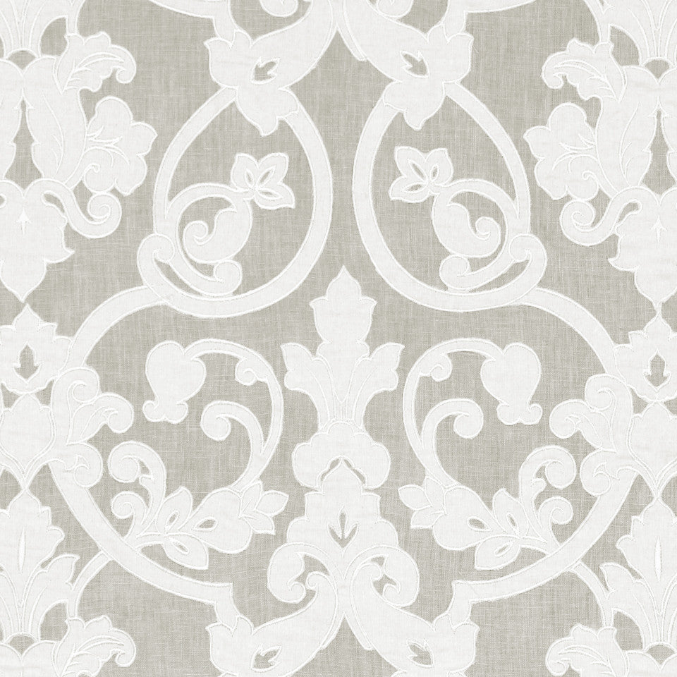 DEW-CORNFLOWER-WISTERIA Full Sweep Fabric - Dove
