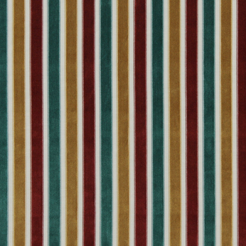 Neo Stripe Fabric - Poppy