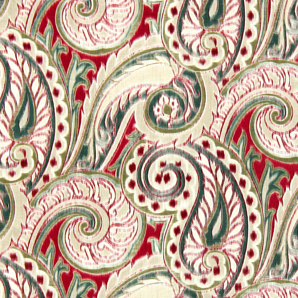 SIENNA-RED EARTH-GRAPHITE Boston Manor Fabric - Red Earth