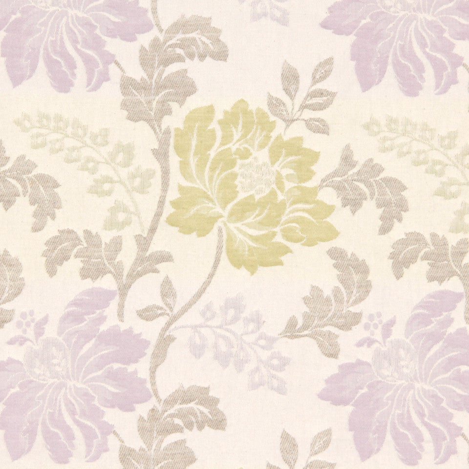 DEW-CORNFLOWER-WISTERIA Soft Leaves Fabric - Wisteria