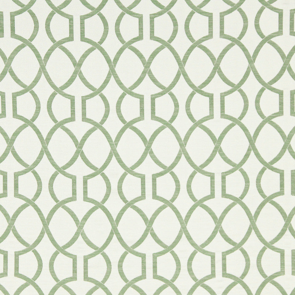 MINT Vine Fret Fabric - Mint