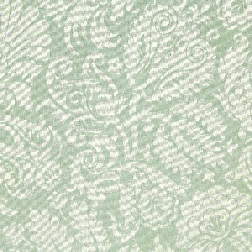 MINT Passiflora Fabric - Mint