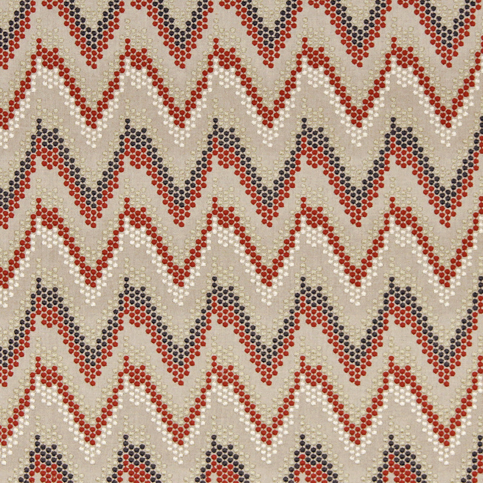 CORAL Oasis Stitch Fabric - Coral