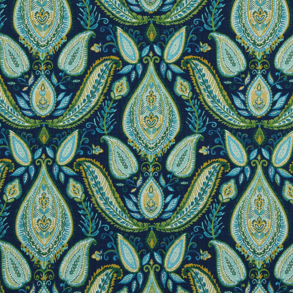 Ombre Paisley Fabric - Ultramarine