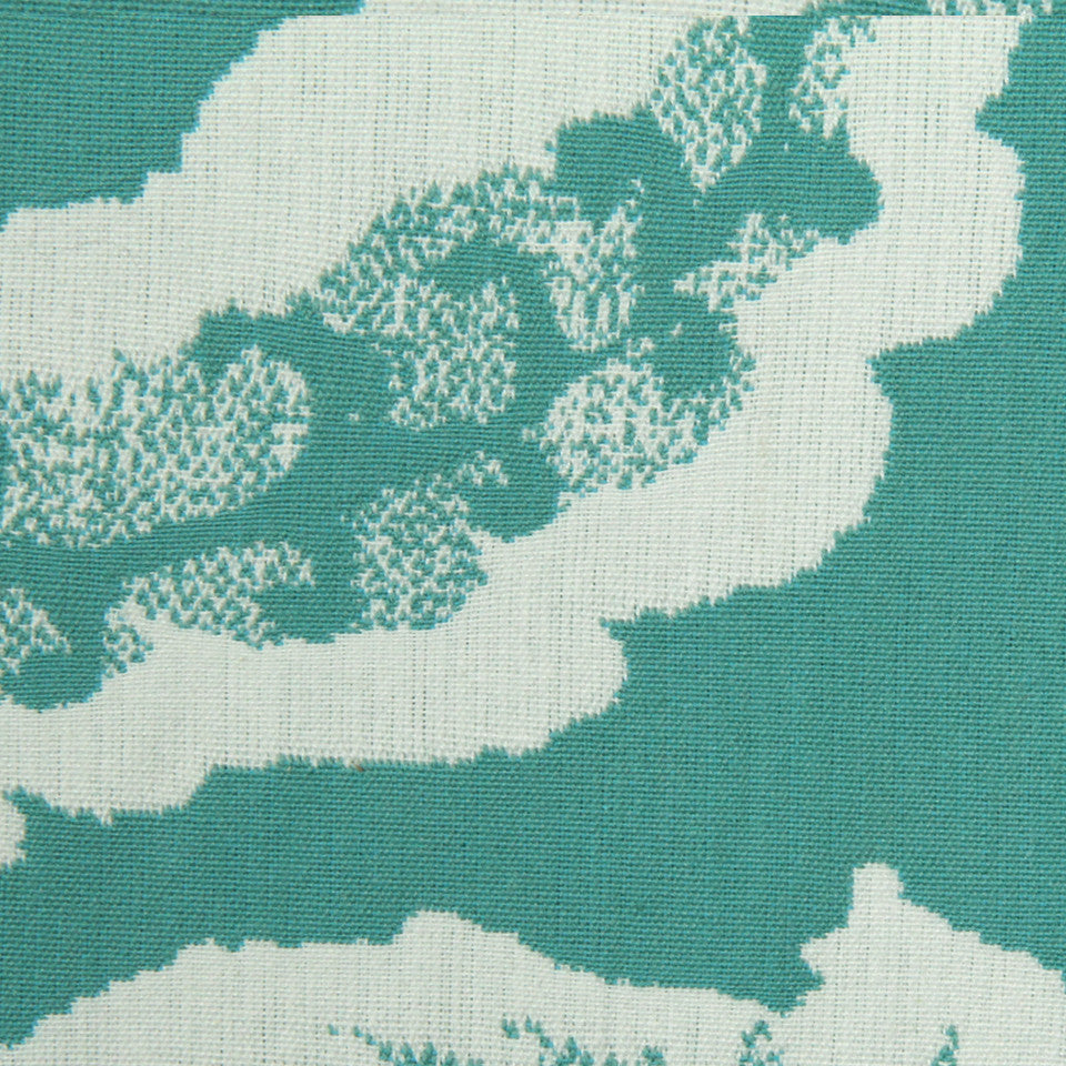 Jacobean Toss Fabric - Pool