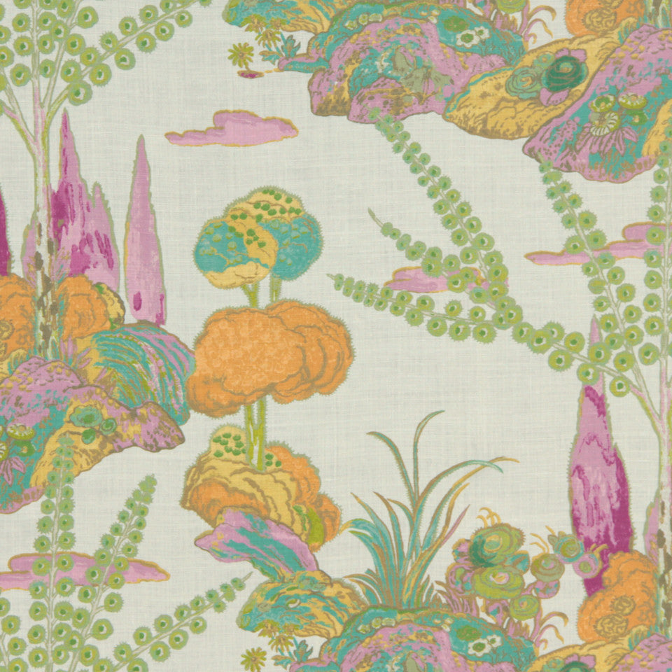 MIDNIGHT GARDEN Moon Blossom Fabric - Orchid