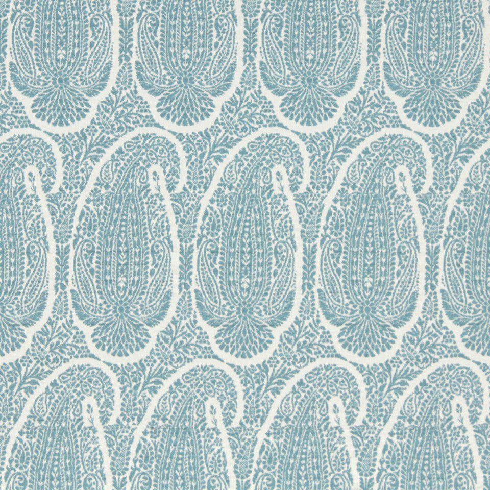 LEMONGRASS-DEW-CORNFLOWER Baytown Fabric - Aquamarine