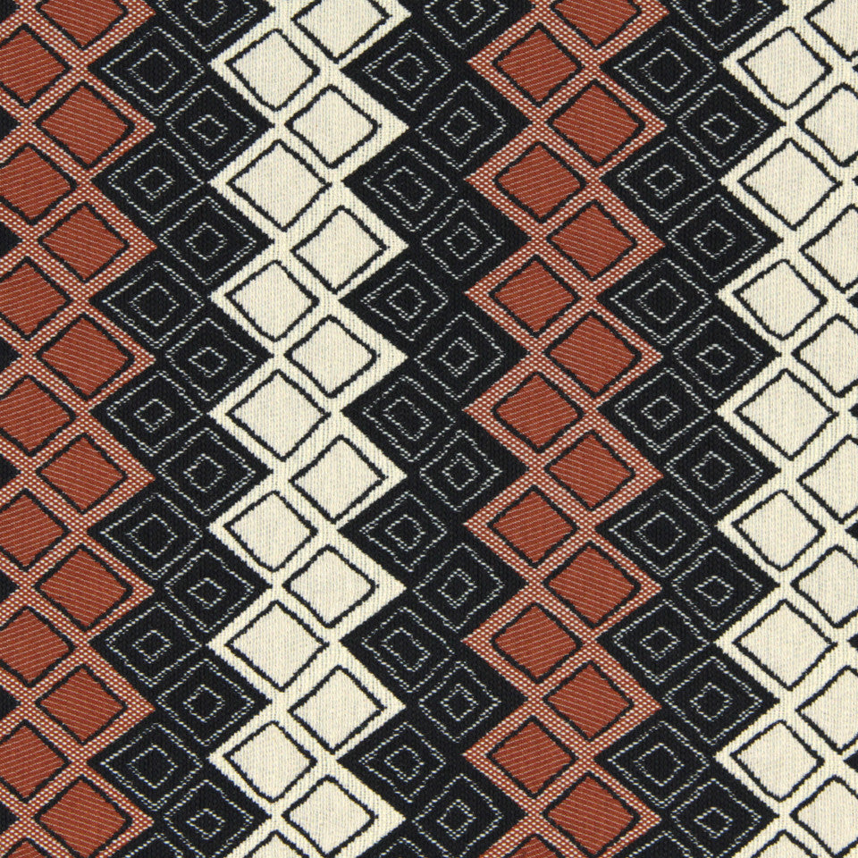 SIENNA-RED EARTH-GRAPHITE Zircon Fabric - Red Earth