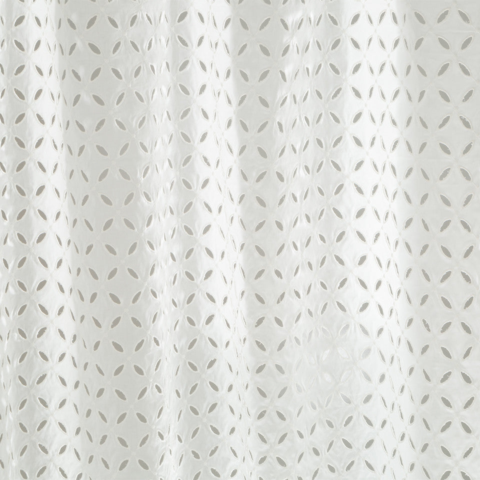 Patterned Sheers Flowing Breeze Fabric - White