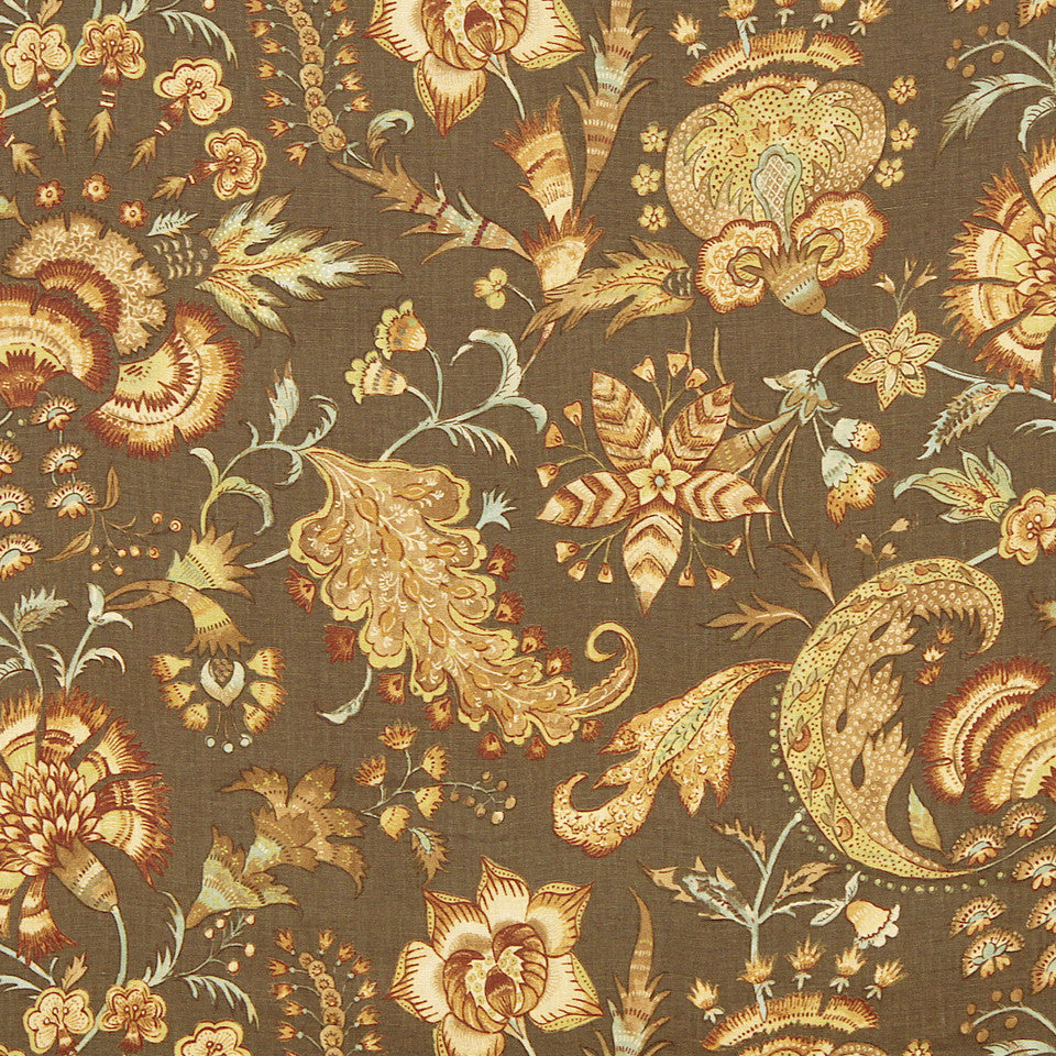 WILLIAMSBURG CLASSICS COLLECTION III Kingsmill Fabric - Bark