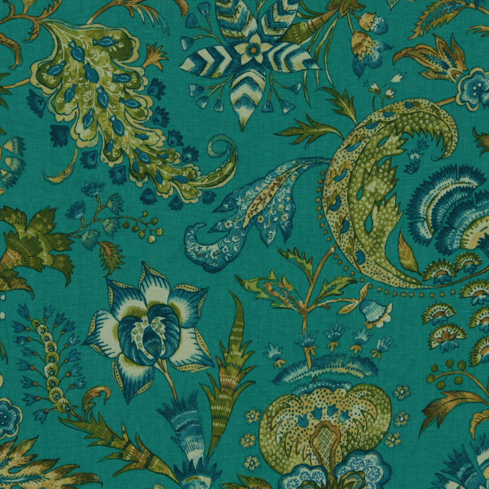 WILLIAMSBURG CLASSICS COLLECTION III Kingsmill Fabric - Turquoise