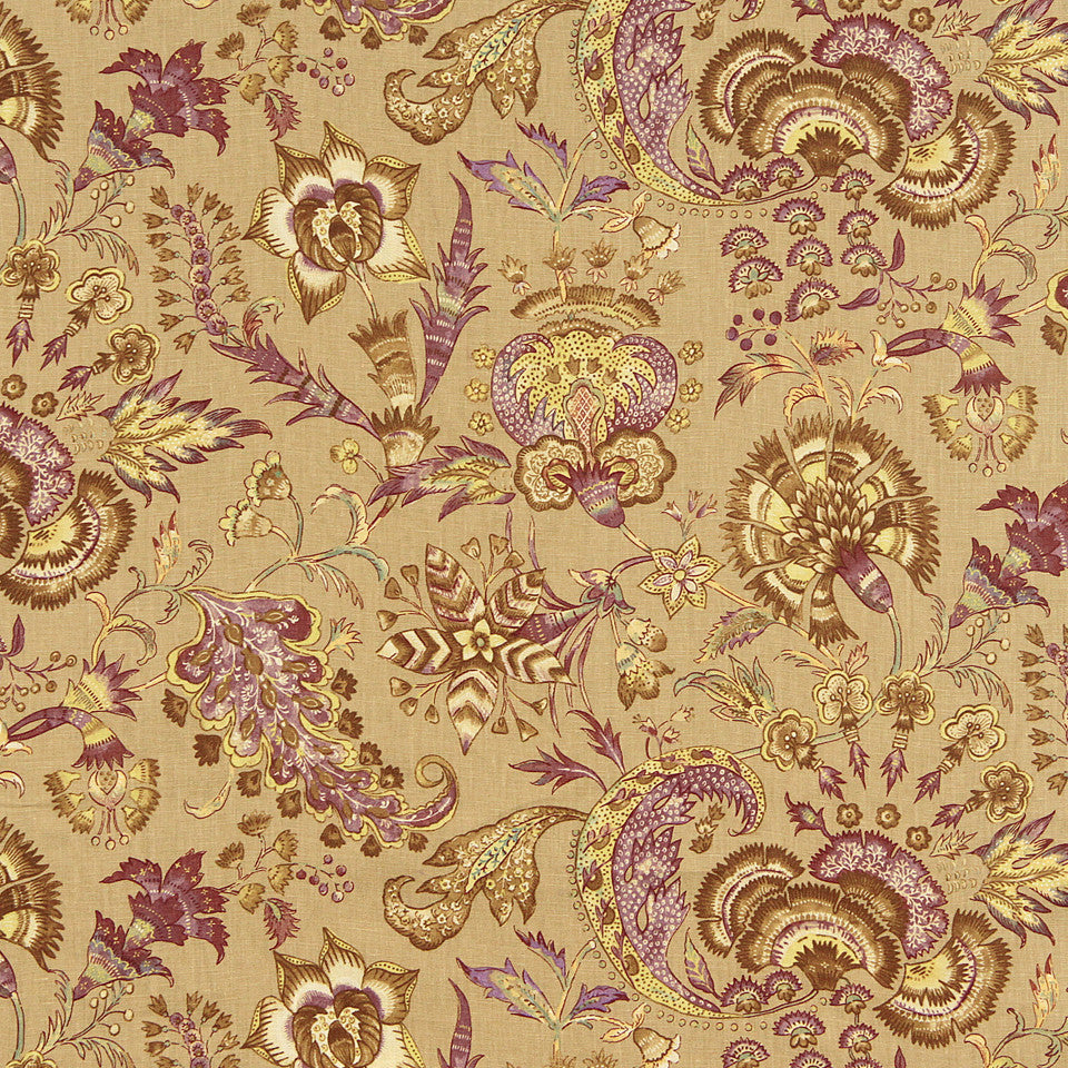 WILLIAMSBURG CLASSICS COLLECTION III Kingsmill Fabric - Aubergine