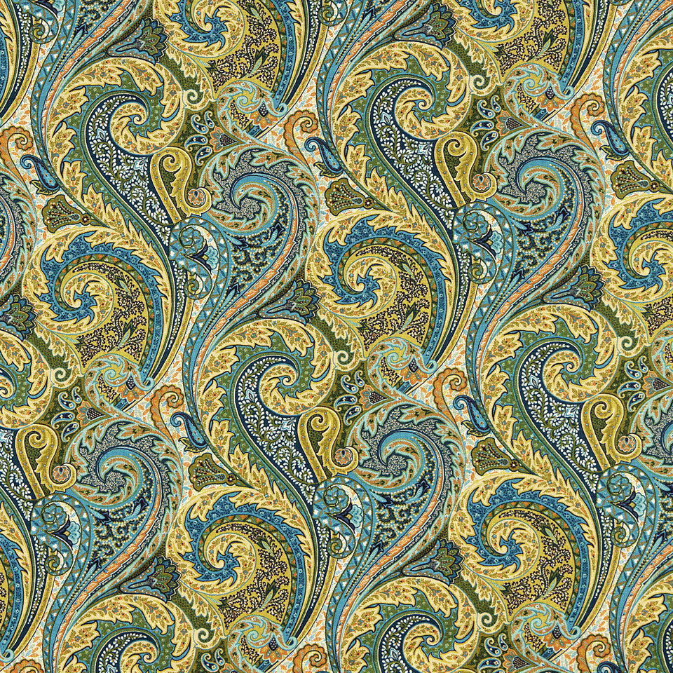 WILLIAMSBURG CLASSICS COLLECTION III Raleigh Tavern Fabric - Turquoise