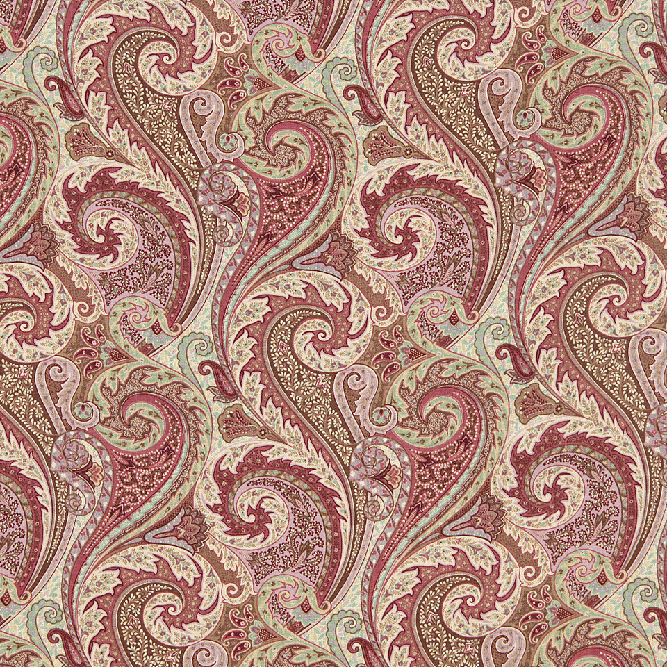 WILLIAMSBURG CLASSICS COLLECTION III Raleigh Tavern Fabric - Aubergine