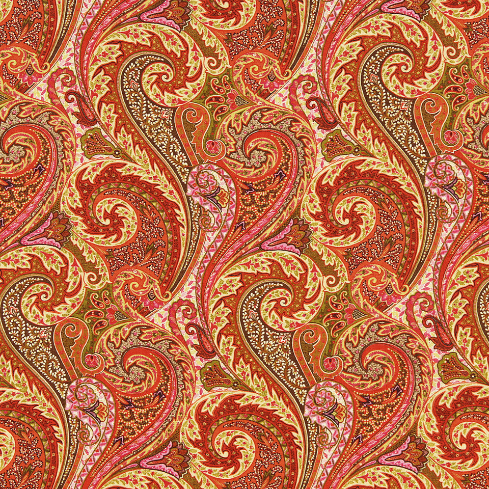 WILLIAMSBURG CLASSICS COLLECTION III Raleigh Tavern Fabric - Mandarin