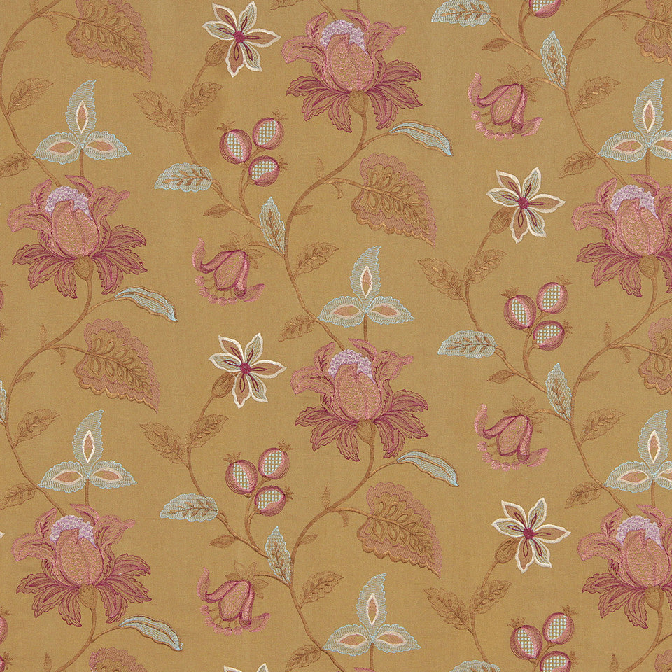 WILLIAMSBURG CLASSICS COLLECTION III Great Hopes Fabric - Aubergine