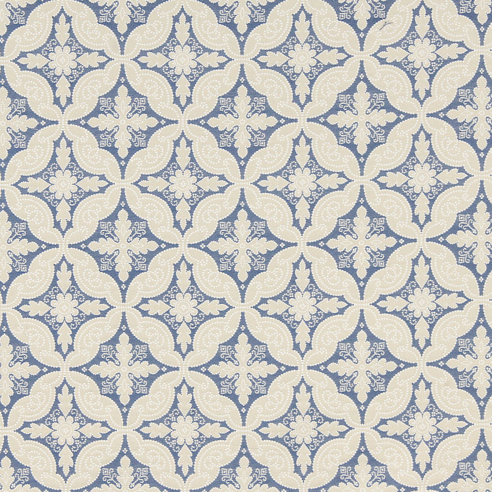 WILLIAMSBURG CLASSICS COLLECTION III Shields Tavern Fabric - Federal Blue