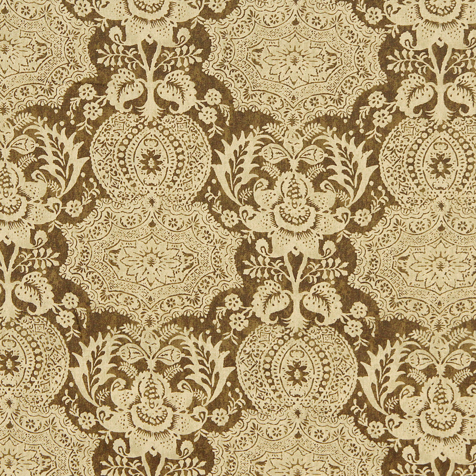 WILLIAMSBURG CLASSICS COLLECTION III Market Square Fabric - Bark
