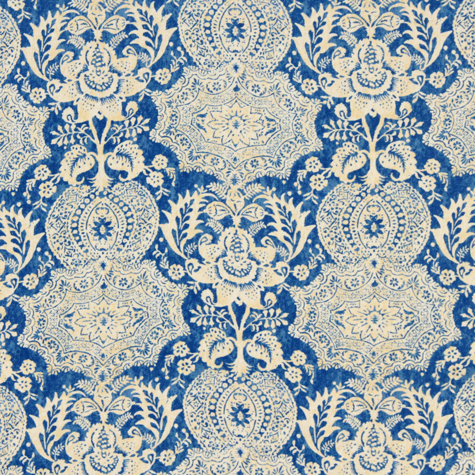 WILLIAMSBURG CLASSICS COLLECTION III Market Square Fabric - Federal Blue