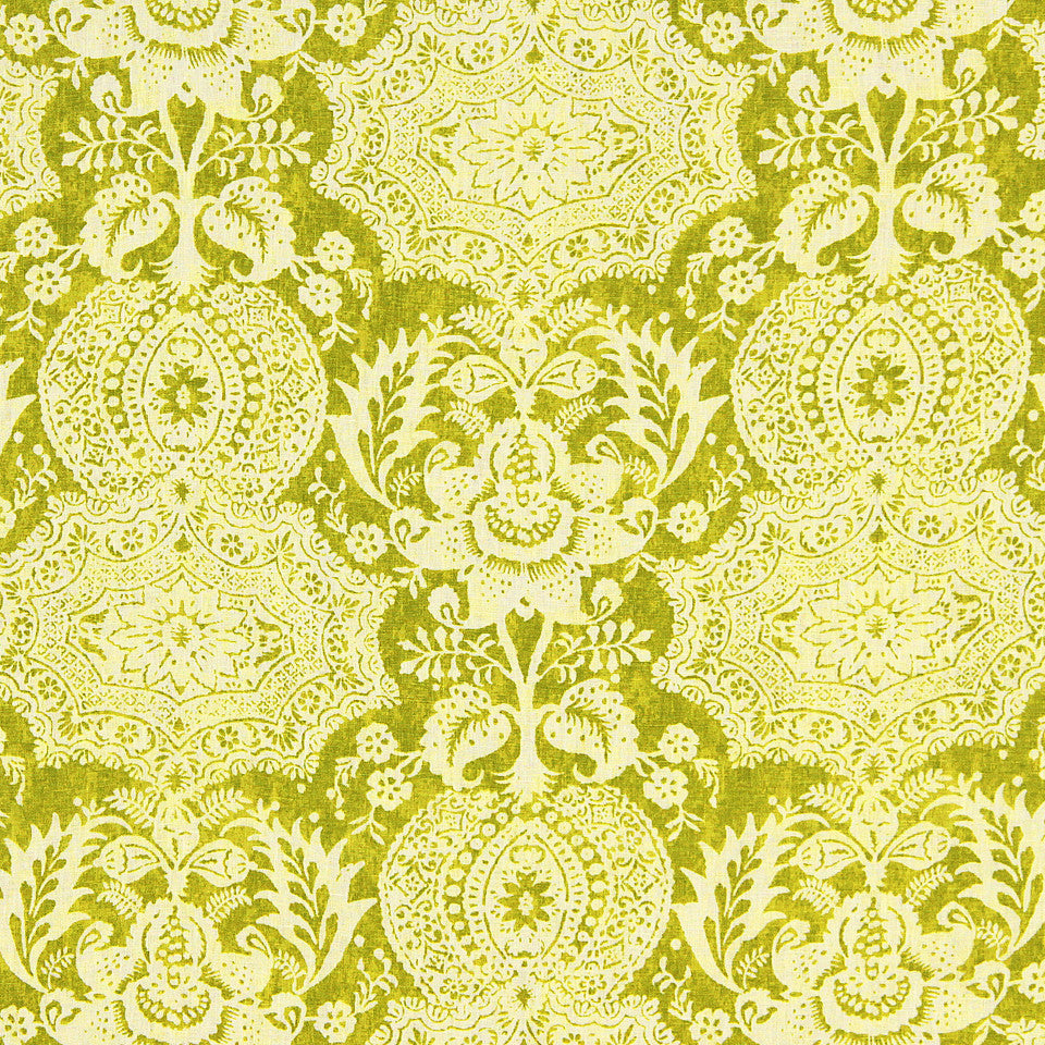 WILLIAMSBURG CLASSICS COLLECTION III Market Square Fabric - Peridot