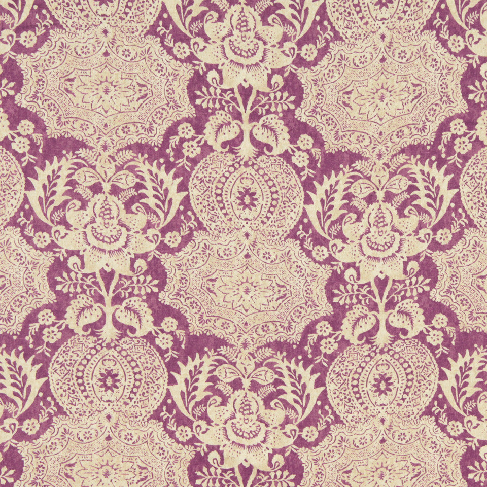 WILLIAMSBURG CLASSICS COLLECTION III Market Square Fabric - Aubergine