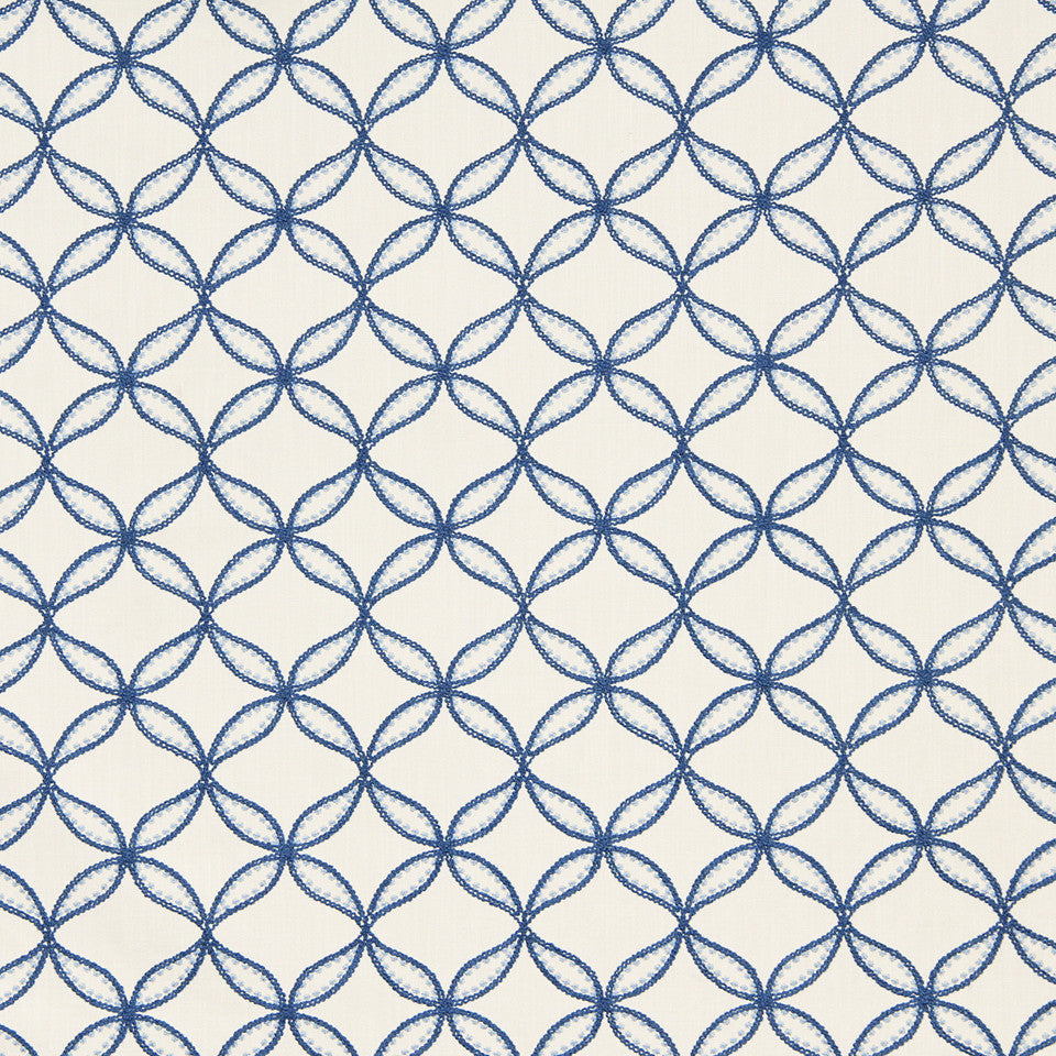 WILLIAMSBURG CLASSICS COLLECTION III Carrs Hill Fabric - Federal Blue