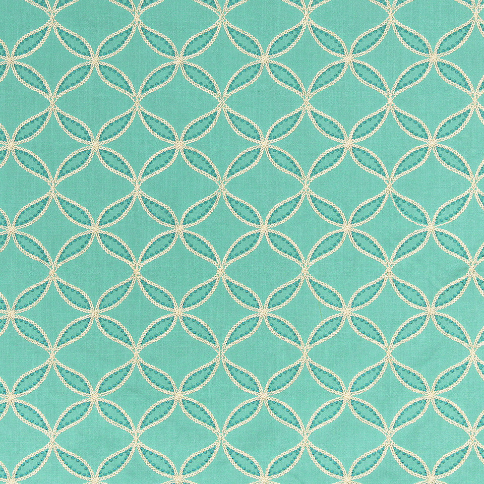 WILLIAMSBURG CLASSICS COLLECTION III Carrs Hill Fabric - Turquoise