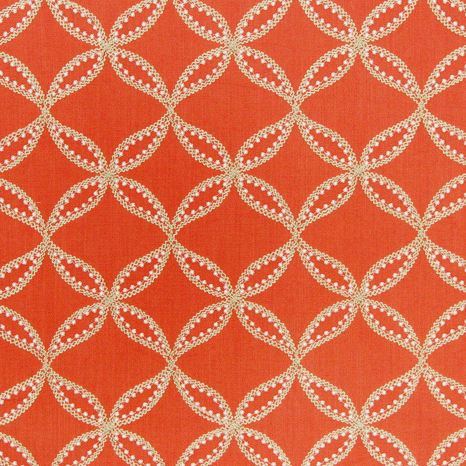 WILLIAMSBURG CLASSICS COLLECTION III Carrs Hill Fabric - Mandarin