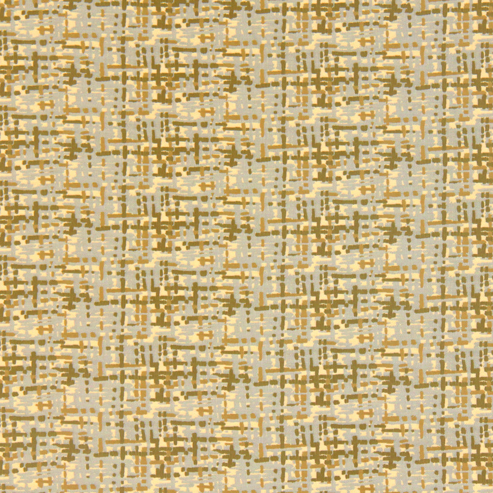 DWELLSTUDIO MODERN COUTURE Abstract Plaid Fabric - Citrine