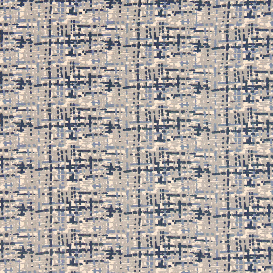 DWELLSTUDIO MODERN COUTURE Abstract Plaid Fabric - Cobalt
