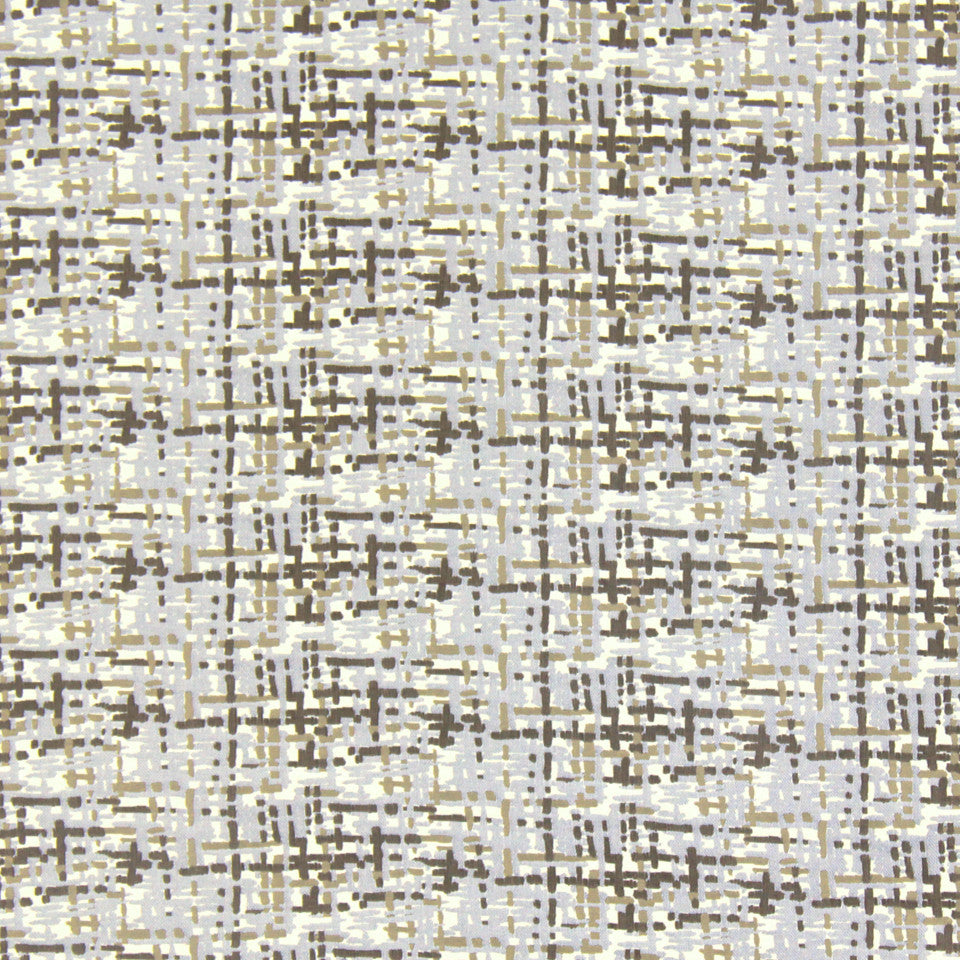 DWELLSTUDIO MODERN COUTURE Abstract Plaid Fabric - Mink