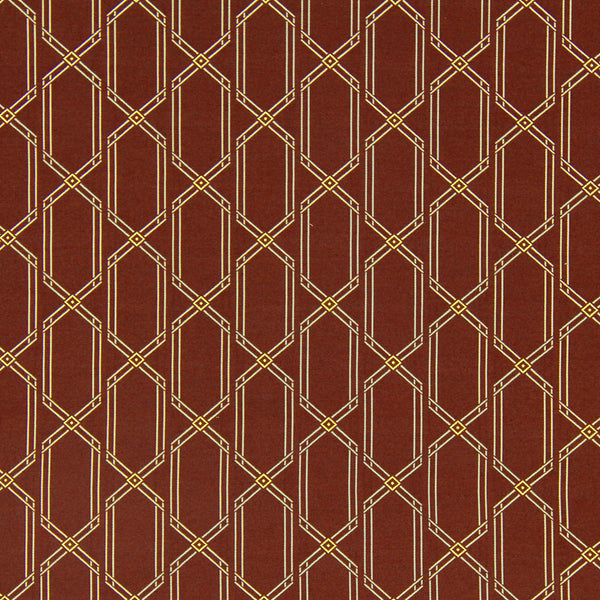 DWELLSTUDIO MODERN COUTURE Lurex Diamonds Fabric - Oxblood
