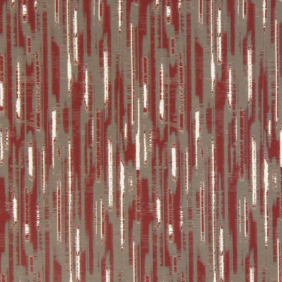 DWELLSTUDIO MODERN COUTURE Modern Tracery Fabric - Oxblood