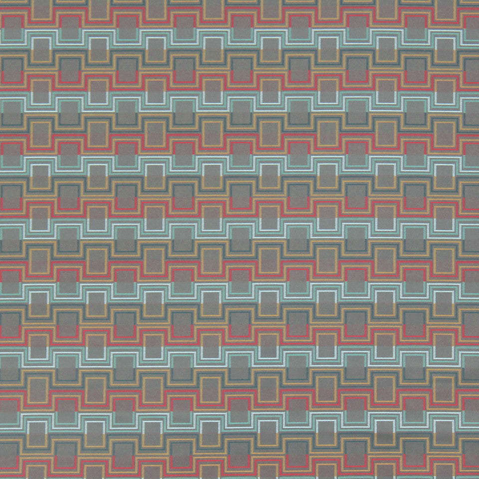 MODERN II Squared Up Fabric - Fiesta