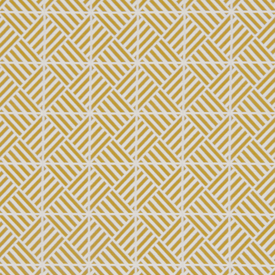 DWELLSTUDIO MODERN COUTURE Triangulation Fabric - Chartreuse