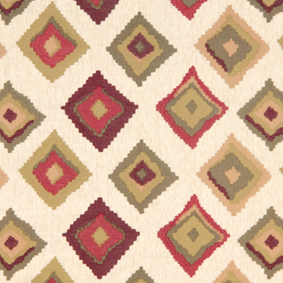 SIENNA-RED EARTH-GRAPHITE Native Trail Fabric - Red Earth