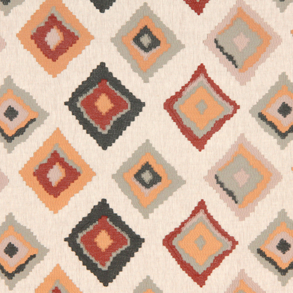 SIENNA-RED EARTH-GRAPHITE Native Trail Fabric - Sienna