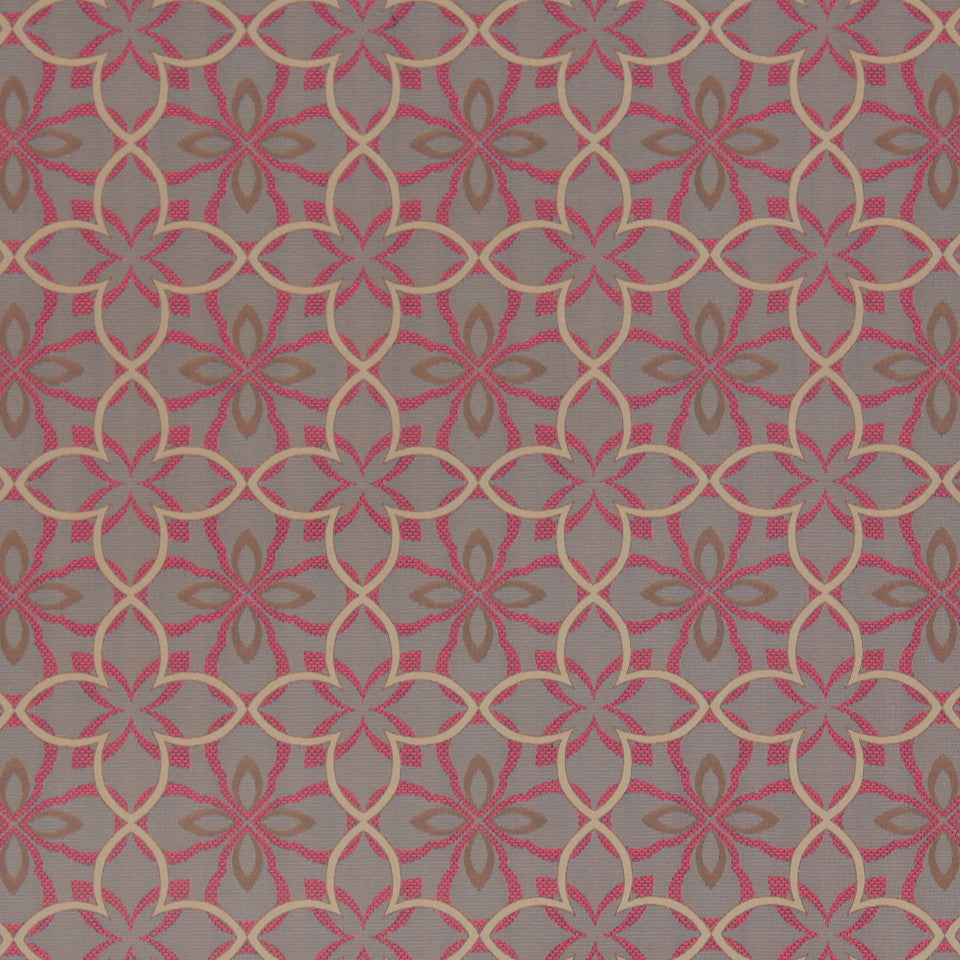MODERN II Four Leaf Fabric - Tangerine
