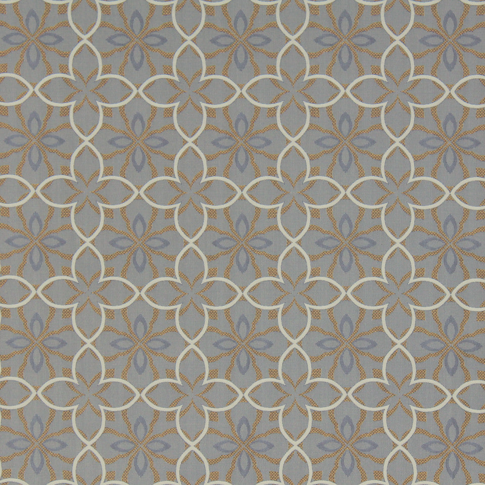 MODERN II Four Leaf Fabric - Marigold