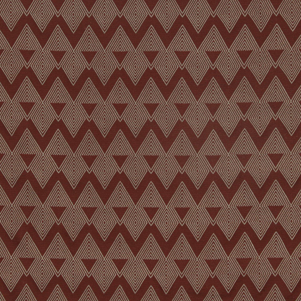 DWELLSTUDIO MODERN COUTURE Mirror Diamond Fabric - Oxblood