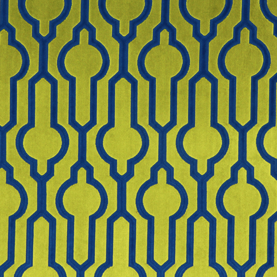 DWELLSTUDIO MODERN COUTURE Circle Trellis Fabric - Chartreuse