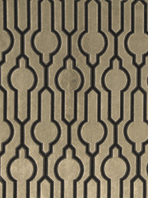 DWELLSTUDIO MODERN COUTURE Circle Trellis Fabric - Mink
