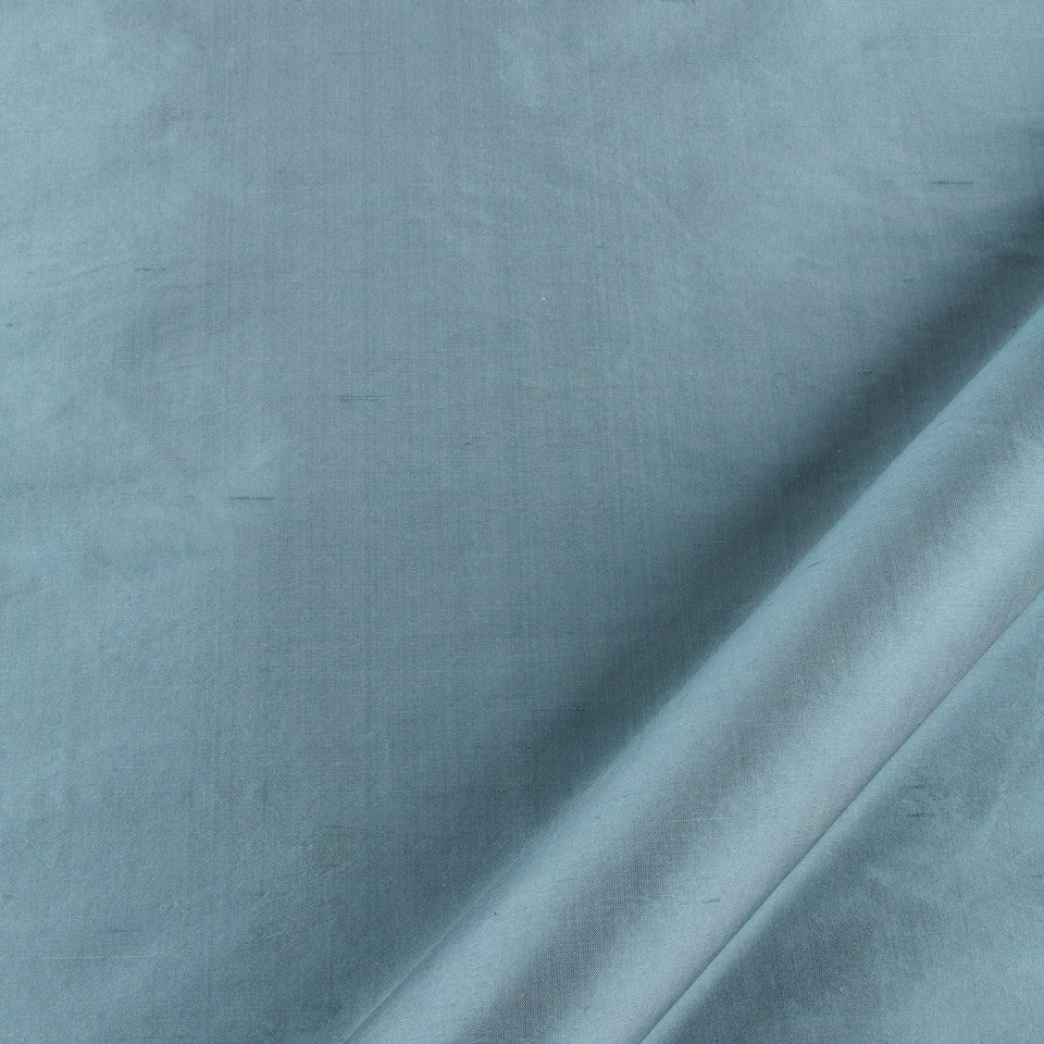 SILK SOLIDS Mysore Silk Fabric - Aegean