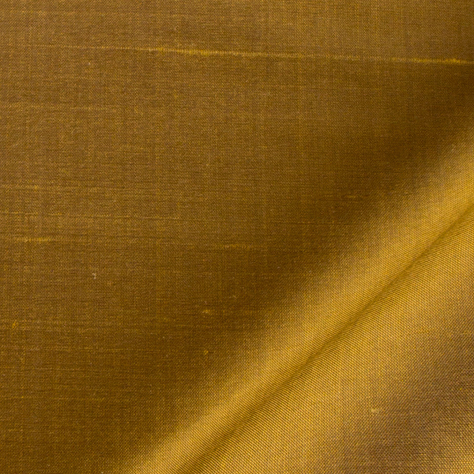 SILK SOLIDS Mysore Silk Fabric - Antique Gold