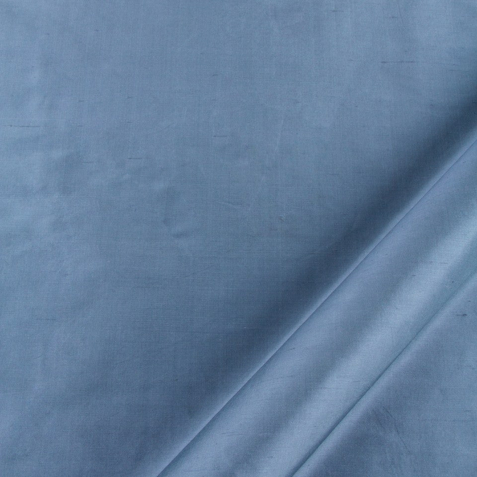 SILK SOLIDS Mysore Silk Fabric - Atlantic