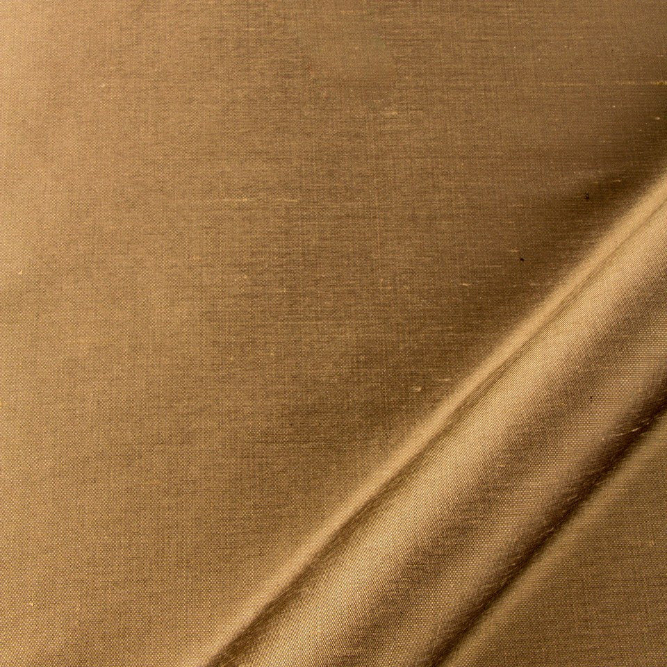 SILK SOLIDS Mulberry Silk Fabric - Dark Flax