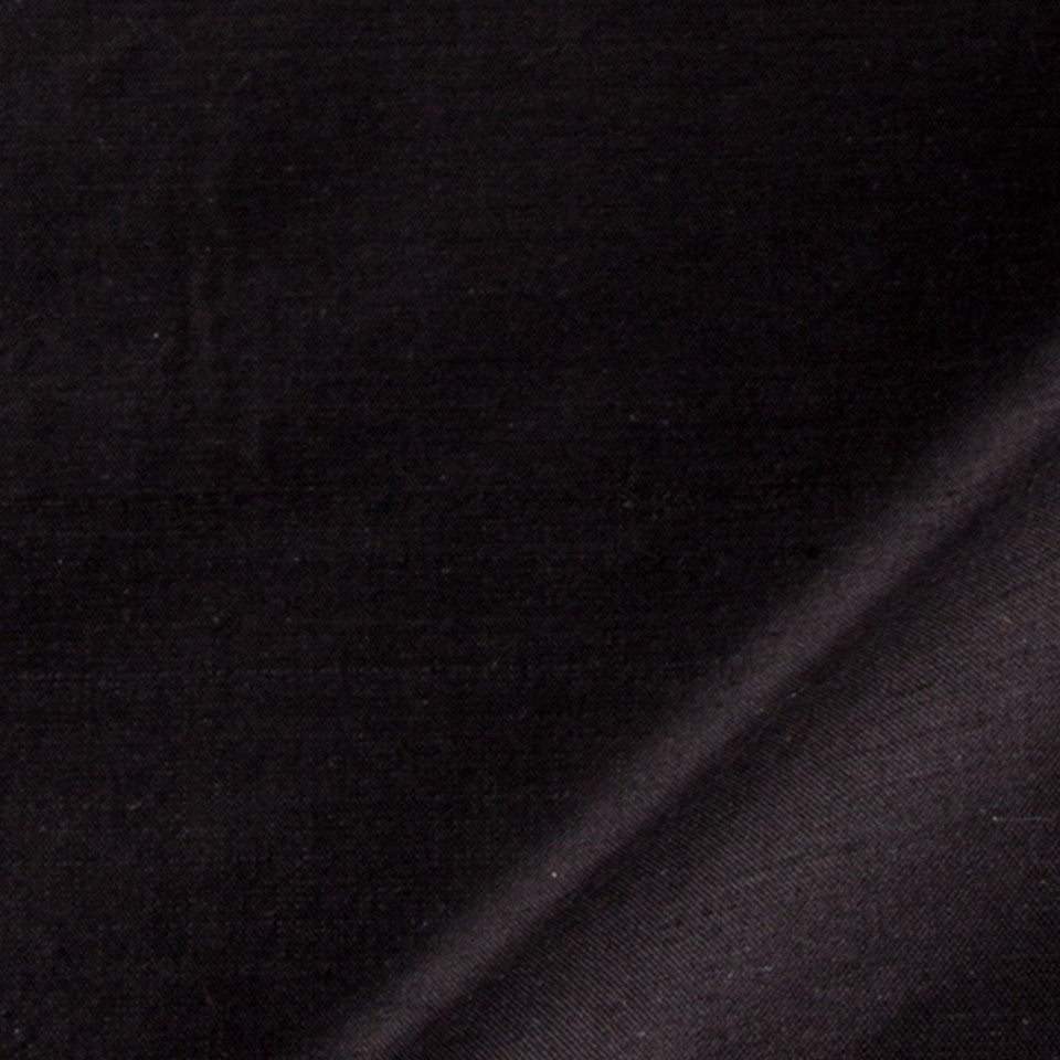 SILK SOLIDS Mysore Silk Fabric - Black