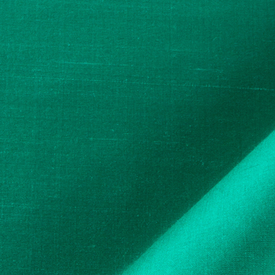SILK SOLIDS Mysore Silk Fabric - Emerald