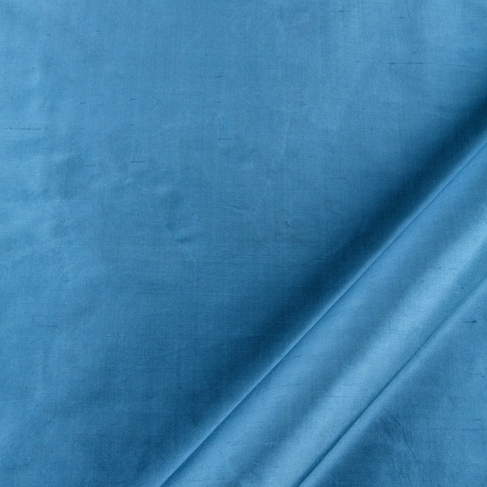 SILK SOLIDS Mysore Silk Fabric - Island Blue