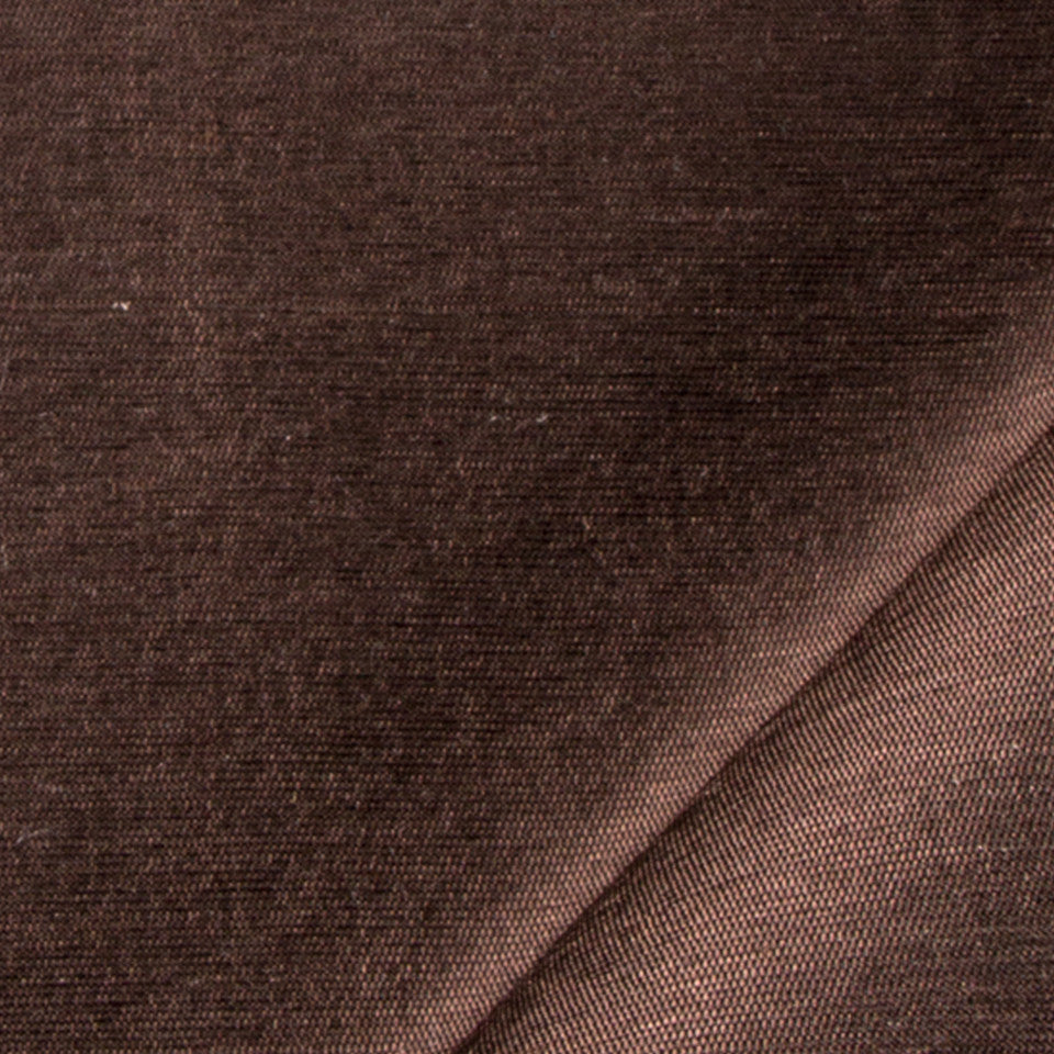 SILK SOLIDS Mulberry Silk Fabric - Leather Brown